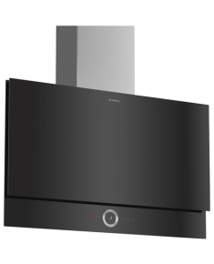 Bosch Hood Serie 8 DWF97RU60 Flat, Width 90 cm, 420 m³/h, Black, Energy efficiency class A, 57 dB