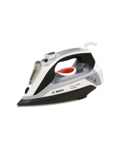 Bosch TDA70EASY Black/ grey/ white, 2400 W, Steam iron, Continuous steam 45 g/min, Steam boost performance 200 g/min, Auto power off, Anti-drip function, Anti-scale system, Vertical steam function, Water tank capacity 380 ml