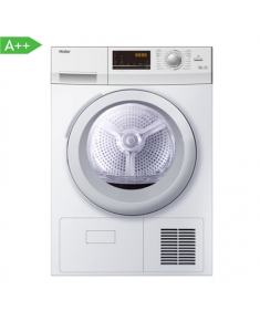 Haier Dryer machine HD90-A636-E Condensed, 9 kg, Energy efficiency class A++, Number of programs 12, White, Depth 65 cm, LED, Display