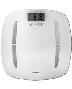 Scarlett Bathroom scales  SC - BS33ED80 Maximum weight (capacity) 180 kg, Accuracy 100 g, Memory function, 12 user(s), White