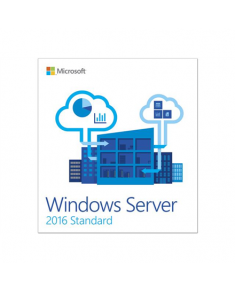 Microsoft Operating System Windows Server 2016 Standard 5 Clt P73-07041, Server, Medialess, Full packaged product (FPP), 64-bit, 16 Cores, English