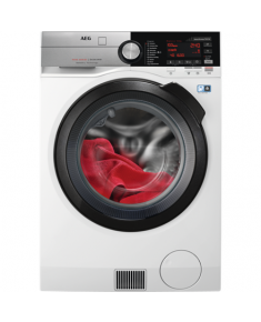 AEG Washing machine L9WBC61B Front loading, Washing capacity 10 kg, Drying capacity 6 kg, 1600 RPM, Direct drive, A, Depth 63 cm, Width 60 cm, White, LED, Display, Drying system