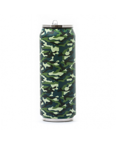 Yoko Design 1486-7945 Isotherm Tin Can, Soft touch Camouflage, Capacity 0.5 L,