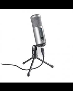 Audio Technica Cardioid Condenser USB Microphone ATR2500-USB Silver, 0.366 kg