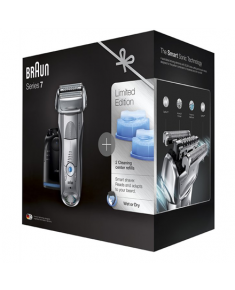 Braun Electric Shaver+ Shaver Silver  7899cc+CCR2 Wet use, Rechargeable, Charging time 1  h, Li-Ion, Network / battery, Number of shaver heads/blades 4, Silver/ black