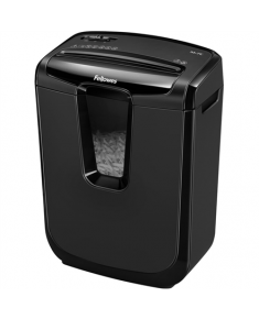Fellowes Shredder M-8C Black, 15 L, Paper shredding, Credit cards shredding, Traditional, Paper handling standard/output Shreds 8 sheets per pass into 4x50mm cross-cut particles (Security Level P-3)