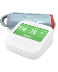 iHealth CLEAR Smart Blood Pressure Monitor  White, Weight 350 g, Wireless, Method of measurement: Oscillimetric with automatic inflation/deflation. The WiFi connection., measures blood pressure and pulse rate