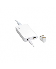 """PORT CONNECT MagSafe Power adapter for Apple Macbook* and Macbook Pro* 11/12/13"""" 16.5 V, 60 W, AC adapter, DC16.5 V / 3.65 A, Fast charge side USB port (2.1 A)"""