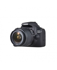 "Canon EOS 2000D 18-55 III EU26 SLR Camera Kit, Megapixel 24.1 MP, Image stabilizer, ISO 12800, Display diagonal 3.0 "", Wi-Fi, Video recording, APS-C, Black"
