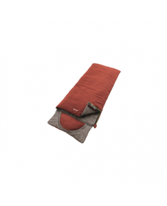 Outwell Contour Ochre Red, Sleeping bag, 225x90 cm, 7/2/-13 °C