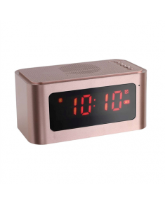 ClipSonic Bluetooth alarm clock speaker TES186P Rose Gold, 5 W