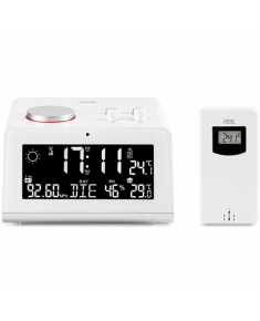 ADE Radio alarm clock with weather station WS 1710 White, Alarm function