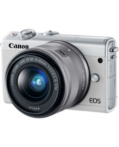 "Canon EOS M100 BK M15-45 S + IRISTA EU18 Mirrorless Camera Kit, 24.2 MP, ISO 25600, Display diagonal 3.0 "", Video recording, Wi-Fi, CMOS, White"
