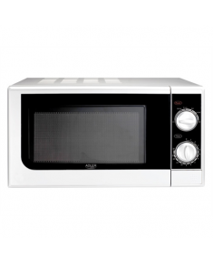 Adler Microwave oven AD 6203 20 L, Mechanical, 700 W, White, Free standing, Defrost function