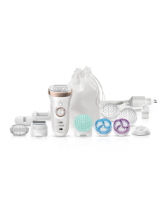 Braun Epilator 9-961V Operating time (max) 40 min, Number of power levels 2, Wet & Dry, White
