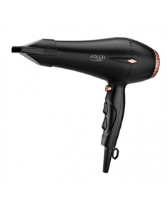 Adler Hair Dryer AD 2244 2000 W, Number of temperature settings 3, Ionic function, Diffuser nozzle, Black