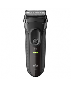 Braun Electric Shaver ProSkin 3020s  Wet use, Rechargeable, Charging time 1 h, Ni-MH, Batteries, Black