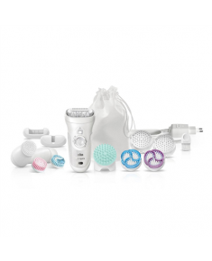Braun Epilator 9-969V Operating time (max) 40 min, Number of power levels 2, Wet & Dry, White