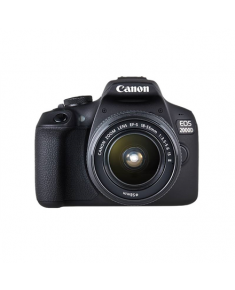 "Canon EOS 2000D 18-55 II EU26 SLR Camera Kit, Megapixel 24.1 MP, Image stabilizer, ISO 12800, Display diagonal 3.0 "", Wi-Fi, Video recording, APS-C, Black"
