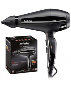 BABYLISS Pro Silence Hair Dryer 6611E Number of speeds 2, Number of temperature settings 3, Ionic function, Motor type AC motor, 2200 W, Black, No, Yes, 1.7 m, Yes, Yes, 1, Detachable filter, Yes, No