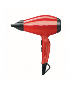 BABYLISS Pro Intense Hair Dryer 6615E Number of speeds 2, Number of temperature settings 2, Ionic function, Motor type AC motor, 2400 W, Red, Italy, Yes, 2.7 m, Yes, No, 2, Detachable filter, Yes, No