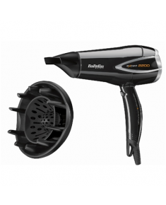 BABYLISS Expert hair dryer D342E Number of speeds 3, Number of temperature settings 3, Ionic function, Motor type DC Motor, 2200 W, White, Yes, Yes, 1.5 m, Yes, 2, Yes, Yes