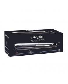 BABYLISS Hair straightener ST387E Pro 235 Intense Protect Ceramic heating system, Ionic function, Display LED, Temperature (min) 140 °C, Temperature (max) 235 °C, Number of heating levels 6, Black, Yes, Yes, Yes, Includes a heat-resistant insulated mat, No