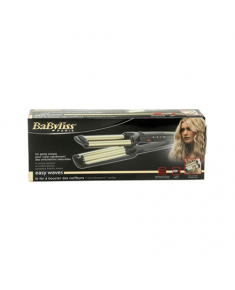 BABYLISS Hair Curler C260E Easy wave hair curling iron Ceramic heating system, Barrel diameter 15 mm, Temperature (min) 160 °C, Temperature (max) 200 °C, Number of heating levels 3, 60 W, Black, Yes, Yes