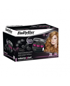 "BABYLISS Hair curler 3038E Heating rollers set Barrel diameter 40 mm, Number of heating levels 1, Black, pink, Yes, 5 extra large curlers, 5 ""butterfly"" clamps, 5 metal clips, Compact thermal cabinet, velvet coated rollers"
