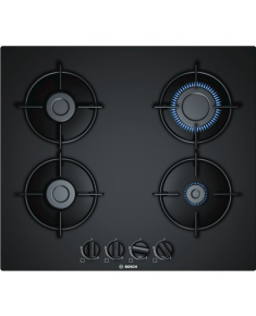Bosch Hob PNP6B6B10 Gas on glass, Number of burners/cooking zones 4, Black,