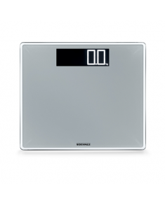 Soehnle Bathroom Scale Style Sense Comfort 400 Maximum weight (capacity) 200 kg, Accuracy 100 g, Multiple user(s), Silver glass