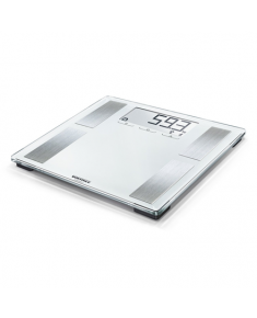 Soehnle Bathroom Scale Shape Sense Connect 100 Maximum weight (capacity) 180 kg, Accuracy 100 g, Memory function, 8 user(s), Silver glass