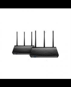 Asus AiMesh AC1900 WiFi System RT-AC67U (2 Pack) 10/100/1000 Mbit/s, Ethernet LAN (RJ-45) ports 4, 2.4GHz/5GHz, Wi-Fi standards 802.11ac, Antenna type External, Antennas quantity 3