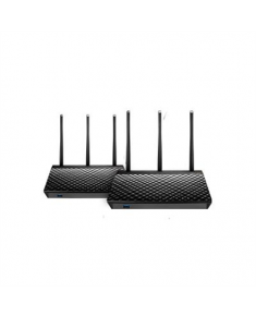 Asus Home Wi-Fi Mesh System RT-AC67U (2 Pack) 802.11ac, 600+1300 Mbit/s, 10/100/1000 Mbit/s, Ethernet LAN (RJ-45) ports 4, Mesh Support Yes, 3G/4G via optional USB adapter, Antenna type 3xExternal, Antennas quantity 3, USB ports quantity 1xUSB 2.0/1xUSB 3.0, Dual-Band, AiMesh, compatible with cable / DSL / Fiber connection, ASUS Router APP