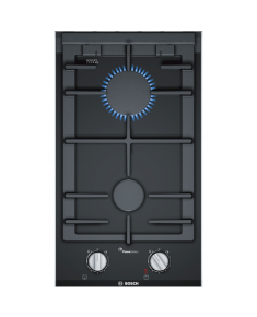 Bosch Gas hob PRB3A6D70 Gas on glass, Number of burners/cooking zones 2, Black,
