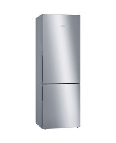Bosch Refrigerator KGE49VI4A Free standing, Combi, Height 201 cm, A+++, Fridge net capacity 274 L, Freezer net capacity 111 L, Display, 38 dB, Stainless steel