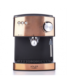 Adler Espresso coffee machine AD 4404cr Pump pressure 15 bar, Built-in milk frother, Semi-automatic, 850 W, Cooper/ black