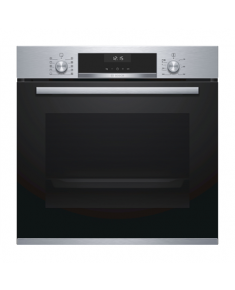 Bosch Oven HBA537BS0S Built-in, 71 L, Black/ stainless steel, Eco Clean, A, Push pull buttons, Height 60 cm, Width 60 cm, Integrated timer, Electric