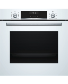 Bosch Oven HBA537BW0S Built-in, 71 L, White, Eco Clean, A, Push pull buttons, Height 60 cm, Width 60 cm, Integrated timer, Electric