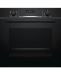 Bosch Oven HBA537BB0S Built-in, 71 L, Black, Eco Clean, A, Push pull buttons, Height 60 cm, Width 60 cm, Integrated timer, Electric