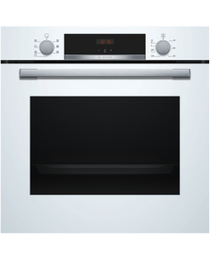 Bosch Oven HBA533BW0S Built-in, 71 L, White, Eco Clean, A, Push pull buttons, Height 60 cm, Width 60 cm, Integrated timer, Electric