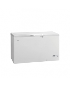Haier Freezer HCE429R Chest, Height 84.5 cm, Total net capacity 429 L, A+, Freezer number of shelves/baskets 2, Display, White, Free standing