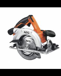AEG Hand-Held Circular Saw, 18 volt. Speed: 4400/min. Max cutting depth: 90° -54mm 45° -41mm. Blade: 165mm TCT.