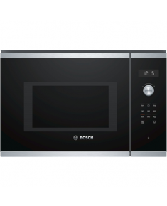 Bosch Microwave Oven BFL554MS0 31.5 L, Retractable, Rotary knob, Start button, Touch Control, 900 W, Stainless steel, Built-in, Defrost function