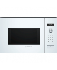 Bosch Microwave Oven BFL554MW0 31.5 L, Retractable, Rotary knob, Start button, Touch Control, 900 W, White, Built-in, Defrost function