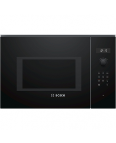 Bosch Microwave Oven BFL554MB0	 31.5 L, Retractable, Rotary knob, Start button, Touch Control, 900 W, Black, Built-in, Defrost function
