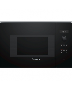 Bosch Microwave Oven BFL524MB0 20 L, Retractable, Rotary knob, Touch Control, 800 W, Black, Built-in, Defrost function