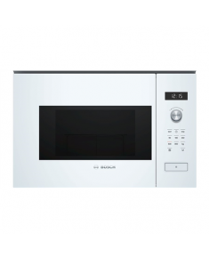 Bosch Microwave Oven BFL524MW0 20 L, Retractable, Rotary knob, Touch Control, 800 W, White, Built-in, Defrost function
