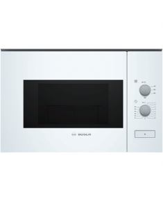 Bosch Microwave Oven BFL520MW0 20 L, Rotary knob, 800 W, White, Built-in, Defrost function