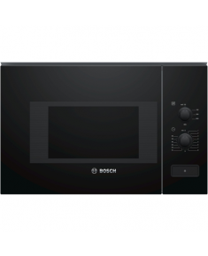 Bosch Microwave Oven BFL520MB0 20 L, Rotary knob, 800 W, Black, Built-in, Defrost function